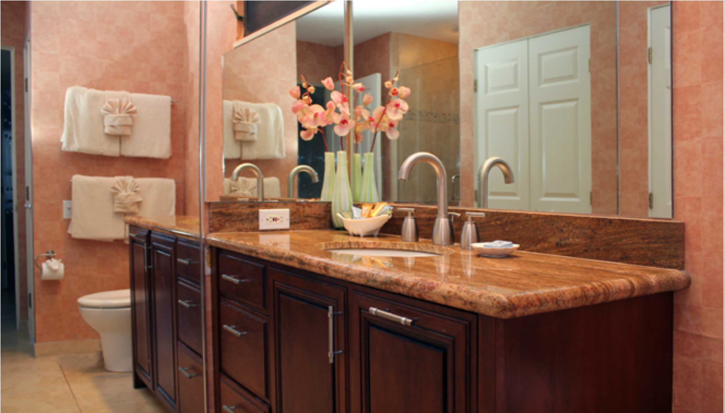 Guest bathroom, granite counter top
