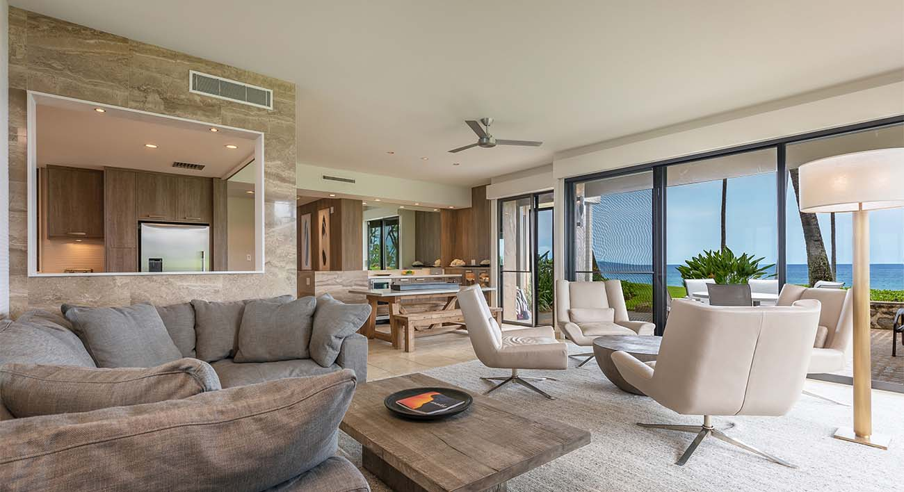 Living room, ocean view