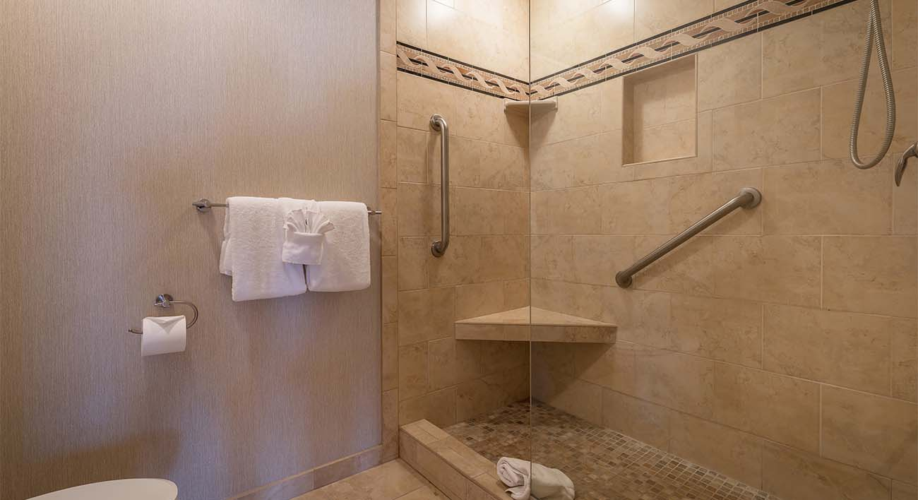 Master bathroom, custom shower stall