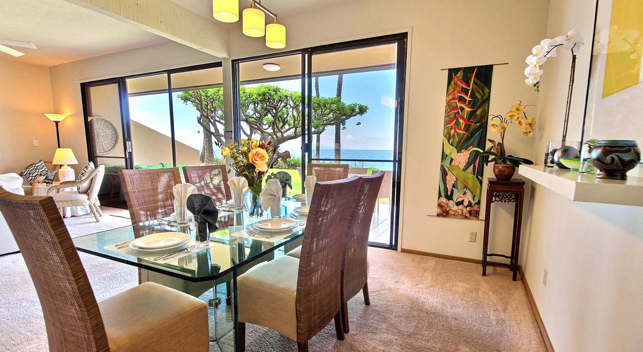 Dining area with oceanview