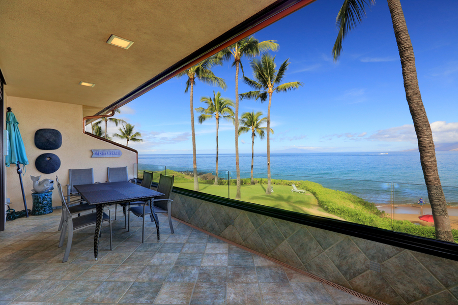 Private deck, oceanview