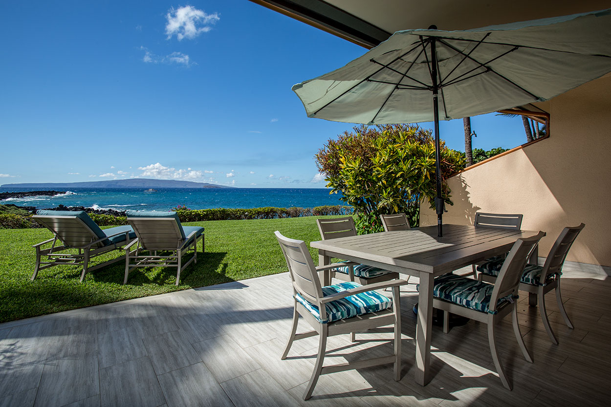 Private deck with oceanview