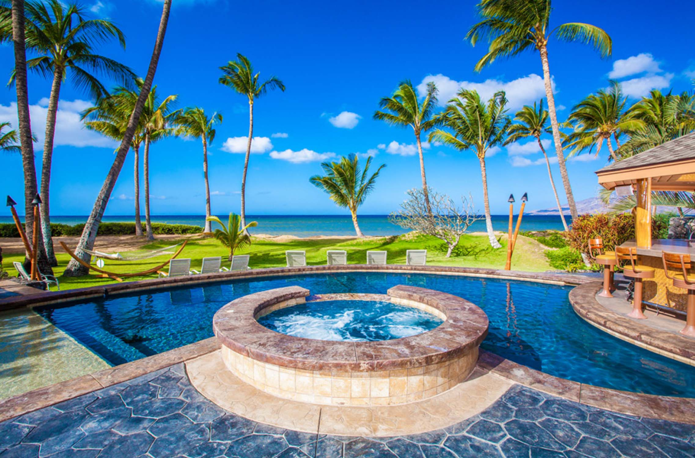 Beachfront pool