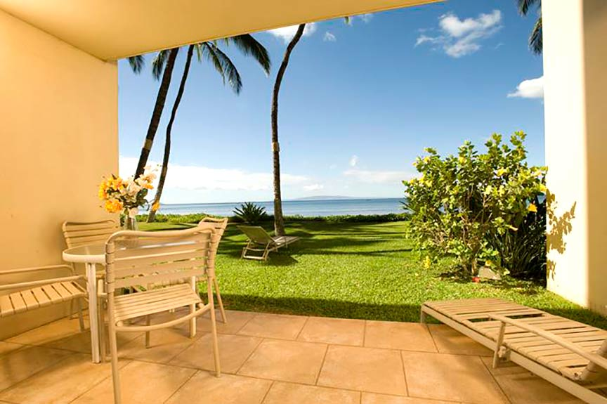 Beachfront patio