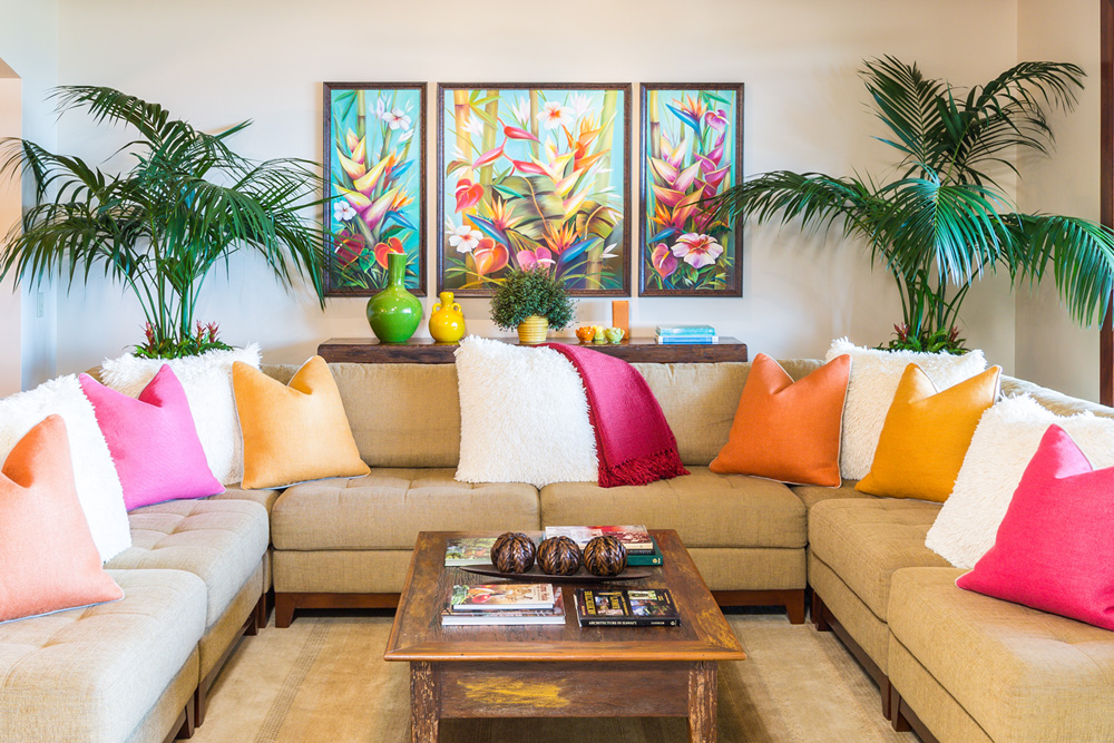 Colorful sofas