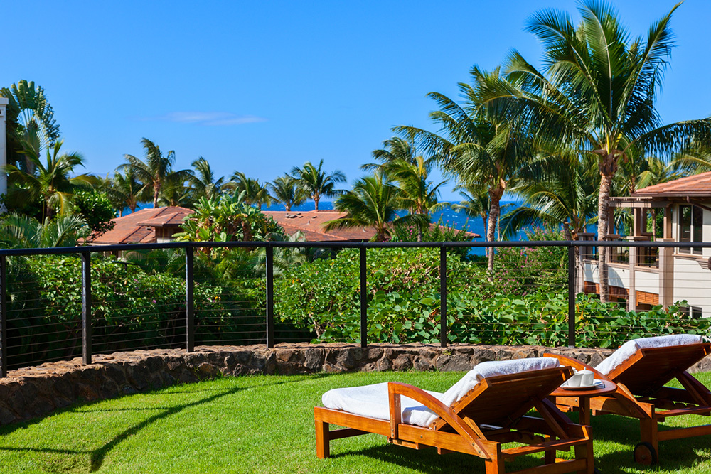 Private lawn, oceanview