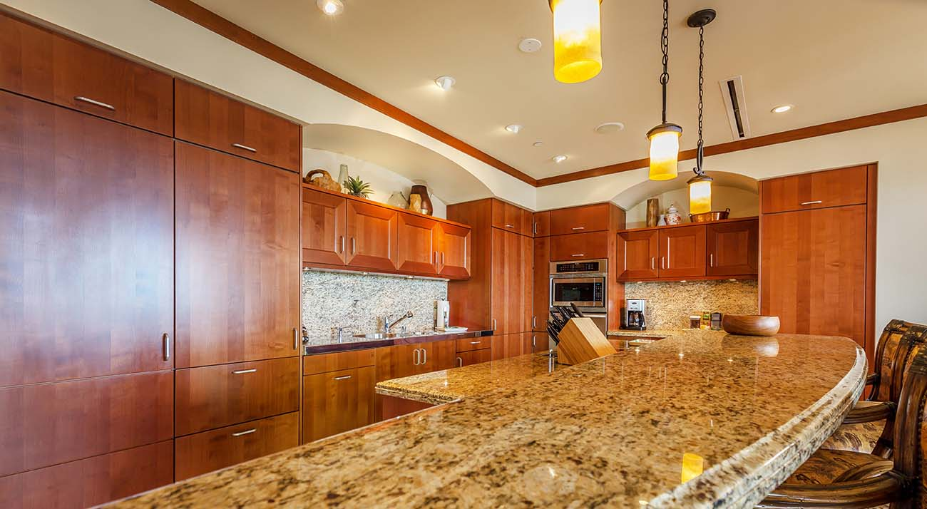Kichen, granite counter tops