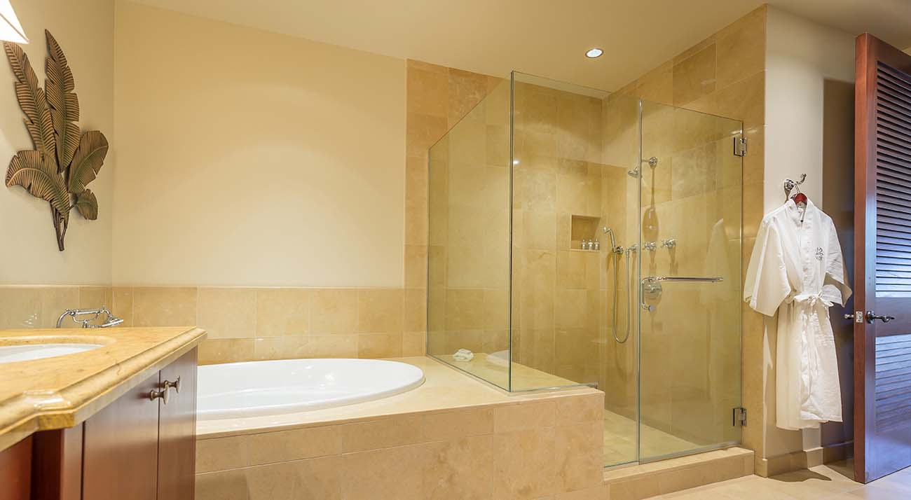 Master bathroom, deep soaking tub